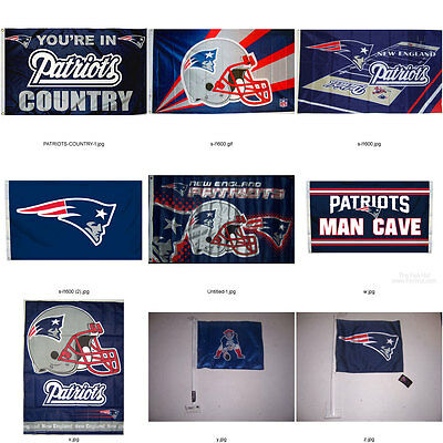 New England Patriots Flag GENUINE BETTER QUALITY NFL LICENSED flag or car banner