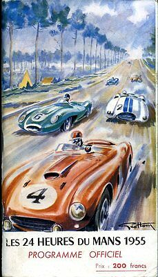 1955 Mike Hawthorn/Ivor Bueb D-Type Jaguar Win Du Le Mans Race Program