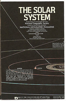 National Geographic Map - July 1981 - Solar System & Saturn Maps