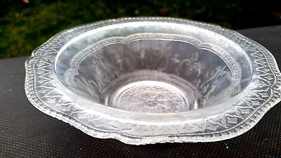 "Rare Crystal Patrician Spoke 6"" Cereal Bowl"