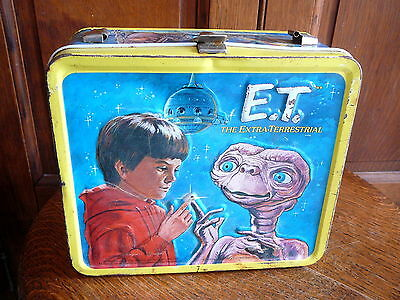 E.t. Et The Extraterrestrial  Vintage 1982 Aladdin  Metal Lunch Box  No Thermos