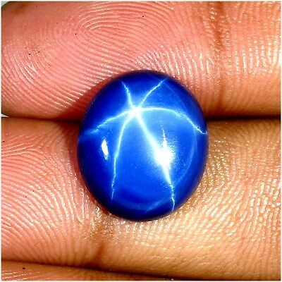 13.45 Cts. Natural Blue Star Sapphire Oval Six Buds Form Thailand