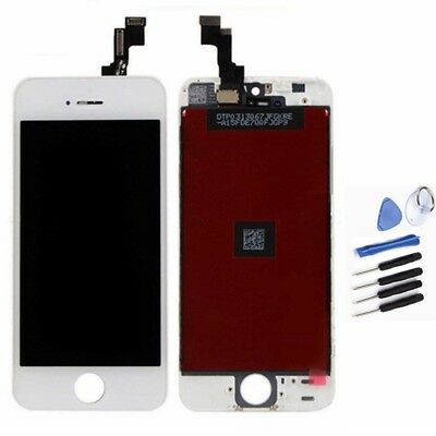 For White iPhone 5S LCD Digitizer Touch Screen Display Assembly Replacement AU
