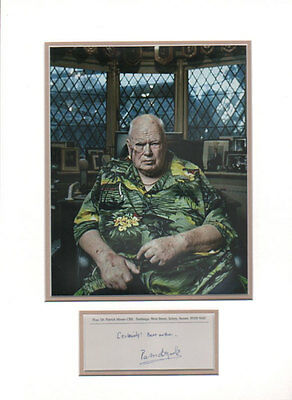 PATRICK MOORE English Astronomer Autograph Signed & Double Matted UACC DEALER