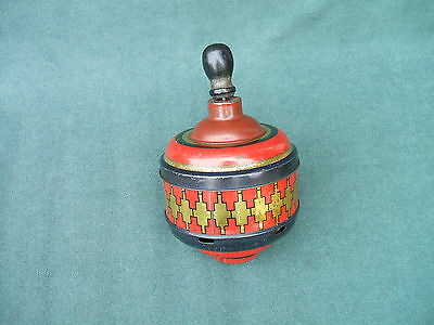 Scarce Old Jacobs Humming Top Figural Biscuit Tin  1928