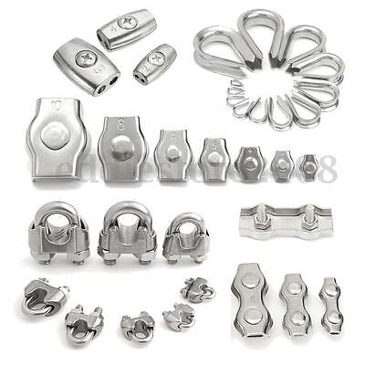 Stainless Steel ALL SIZE Wire Rope Clamp Thimble Simplex Duplex Accessories