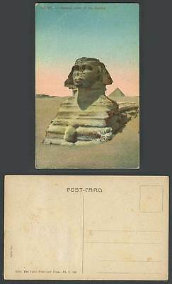 Egypt Old Colour Postcard Cairo General View of The SPHINX Pyramid Desert Sunset