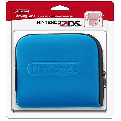Official Nintendo 2DS Protective Carrying Case/Cover/Pouch - Blue NEW