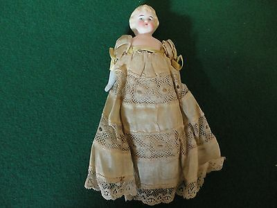 pin cushion doll victorian dressed with feet and arms all original