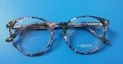 Vintage    Glasses Collezione  Azzurro Blue And  Pink  New   Made  In  Italy  .