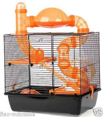 Cage pour petits animaux a hamster à rongeur Tube Ebene XXL Grand 360x240x85 mm