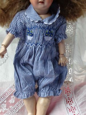 barboteuse à smocks pour poupon rompers with smocking for baby in-arms