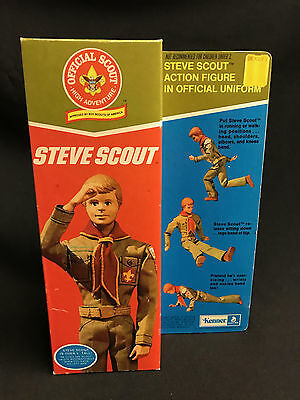 1974 Vintage boxed - STEVE SCOUT - by Kenner - New unused old shop stock -