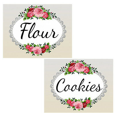 ViCToRiaN RoSeS & LaCe CaNisTeR & SPiCe ShaBby LaBeLs / WaTerSLiDe DeCALs