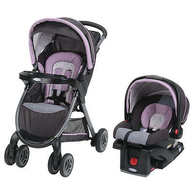 New Graco FastAction Fold Click Connect Travel System - Janey Model:23041263