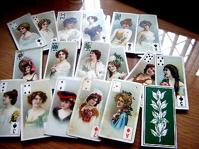 Pick-A-Card From B.a.t. Beauties, Tobacco Leaf Back, Playing Card Inset