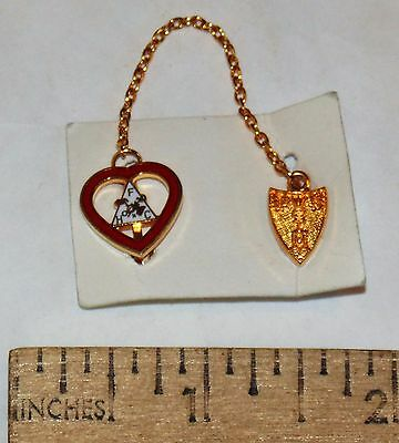 FHC HEART chained to WOTM shield - FAITH HOPE CHARITY - WOMEN OF THE MOOSE