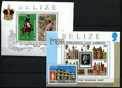 Belize 1978/1979 SG#MS503 Coronation 25th Anniv MNH M/S Set #D43280