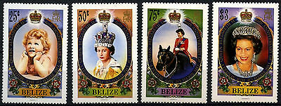 Belize 1986 SG#905-8 QEII 60th Birthday MH Set #D43295