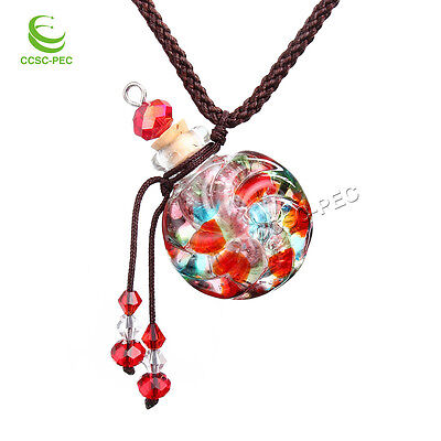 Essential Oil Bottle Perfume Bottle Vial Locket Necklace Aromatherapy Diffuser