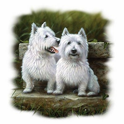 Two Westies West Highland TerriersPick Your Size T Shirt 7 X Large to 14 X Large