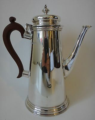 "Vintage solid silver COFFEE POT London 1942 9"" high weight 25.75 tr oz / 800.7 g"