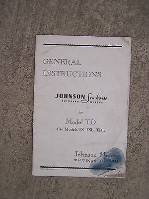 1948 JOHNSON MODEL TD 20 5 Horsepower Short Shaft Outboard