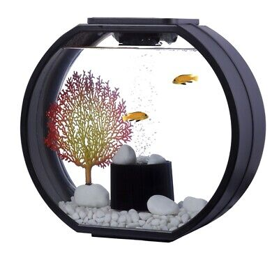 Fish R Fun Deco Fish Tank 20 Ltr Black Aquarium For Cold Water Or Tropical 8764