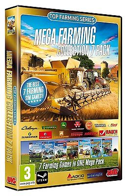 Mega Farming Collection 7-Pack [PC-DVD Computer, Region Free, Simulation] NEW