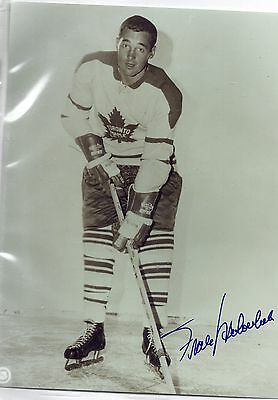 Frank Mahovlich Toronto Maple Leafs Signed Autographed 8x10