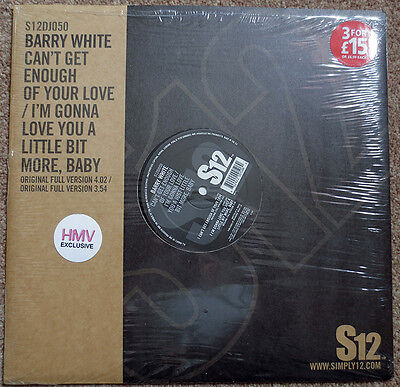 "Barry White - Can't Get Enough Of Your Love 2004 Original 12"" Vinyl"