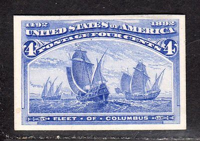 $US Sc#233p4 M/XLH/VF-XF, Plate Proof on card, Cv. $70