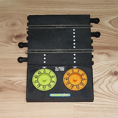 Scalextric Classic Lap Counter Timer Track - Orange & Green Dials