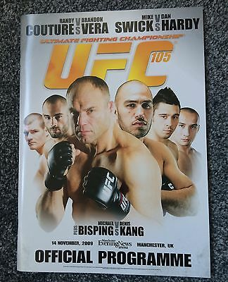Ufc 105 Program Mma Couture Bisping Hardy
