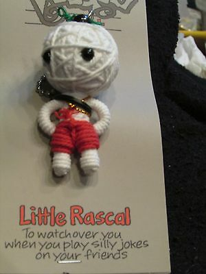 John Hinde USA WatchOver Little Rascal Red Voodoo Doll  Key Chain New on Card!