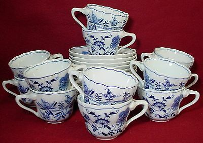 "BLUE DANUBE china/pattern CUP & SAUCER 2-1/2"" set of TWELVE (12)"