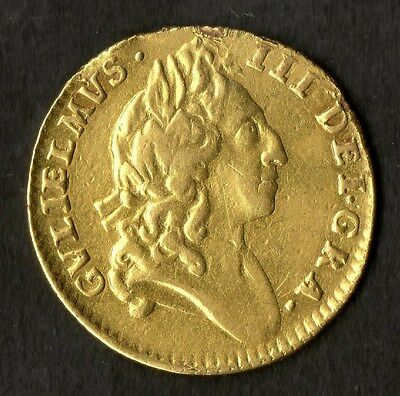 Gold Half Guinea 1695 William III Good Very Fine Condition Ex Jewellery RARE