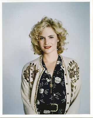Jennifer Jason leigh  1980's studio publicity portrait smiling