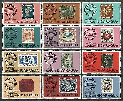 NICARAGUA. 1976. Rare & Famous Stamps Set. SG: 2087/98. Mint Never Hinged.