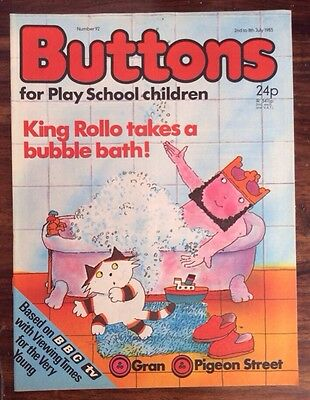 Buttons Comic No 92.  2 July 1983 Unread, Unsold Newsagents Stock. Nr/mint. (