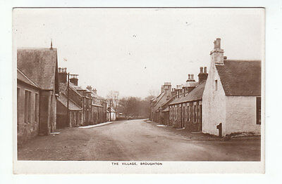 The Village Broughton Peebles Maxwell Stationer Real Photograph Herald Series