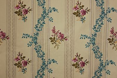 Vintage French daybed day bed cover bed cover bedspread c 1950's ~ floral fabric
