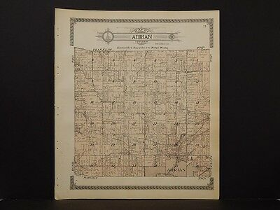 Michigan, Lenawee County Map, 1916 Township of Adrian L3#11