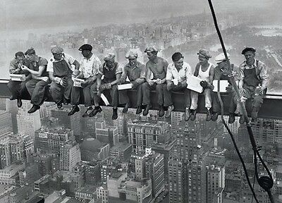 "John Ebbets Photography poster 24 x 36"" Lunch on a Skyscraper"