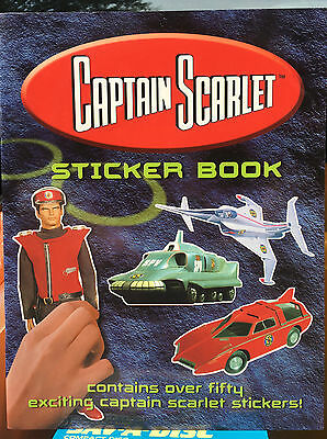 CAPTAIN SCARLET Sticker Book CARLTON Gerry Anderson