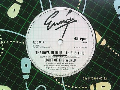 """Light Of The World The Boys In Blue / This Is This 12"""" Single 1980 N/mint"""