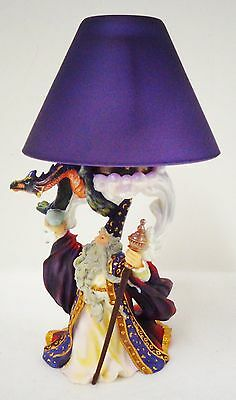 "Wizard Holding Dragon Lamp (Votive Candle) 9"" High (new in box)"