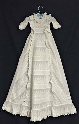 Absolutely Stunning Late 1800's Antique Victorian Christening Gown