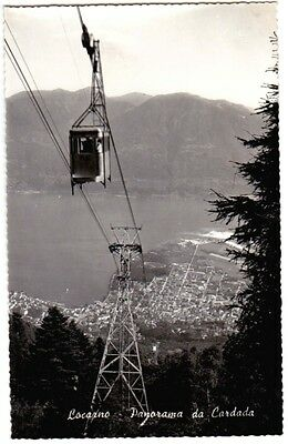 Locarno Switzerland Mountain Cable Car Real Photo Unused Fair-Good