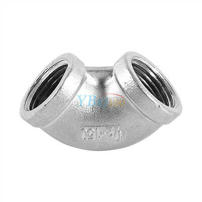 "1/2"" Elbow 90 Degree Angled Stainless Steel 304 Female Threaded Pipe Fitting HOT"